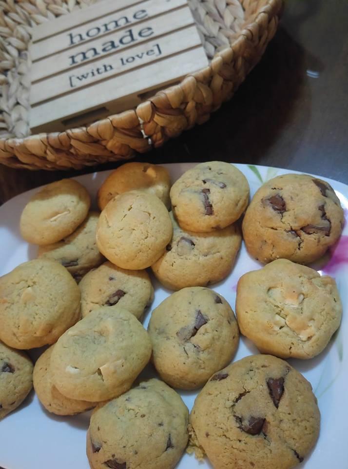 Συνταγή για αμερικάνικα cookies με κομμάτια σοκολάτας!
