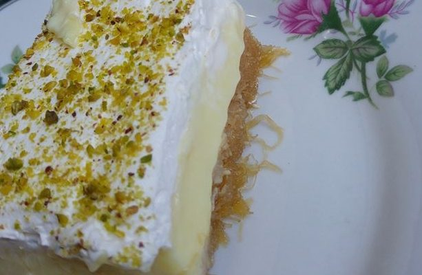 Συνταγή για Παραδοσιακό Εκμέκ κανταΐφι με κρέμα μαστίχας, σαντιγί και χαλεπιανά