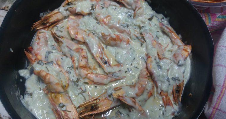 Συνταγή για γαρίδες με Garlic Lemon Butter Sauce