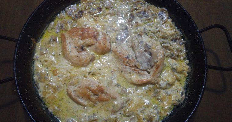 Συνταγή για κοτόπουλο με Madeira sauce, φρέσκα μανιτάρια και τυρί μοτσαρέλα στο φούρνο!