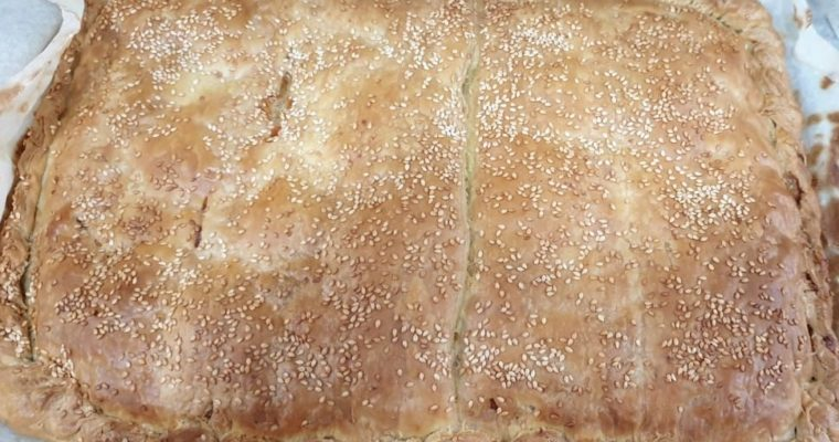 Συνταγή για κοτόπιτα με φύλλο χωριάτικο