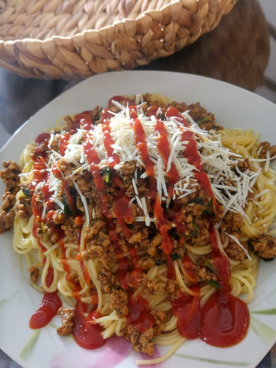 Συνταγή για μακαρόνια σπαγγέτι με κιμά!