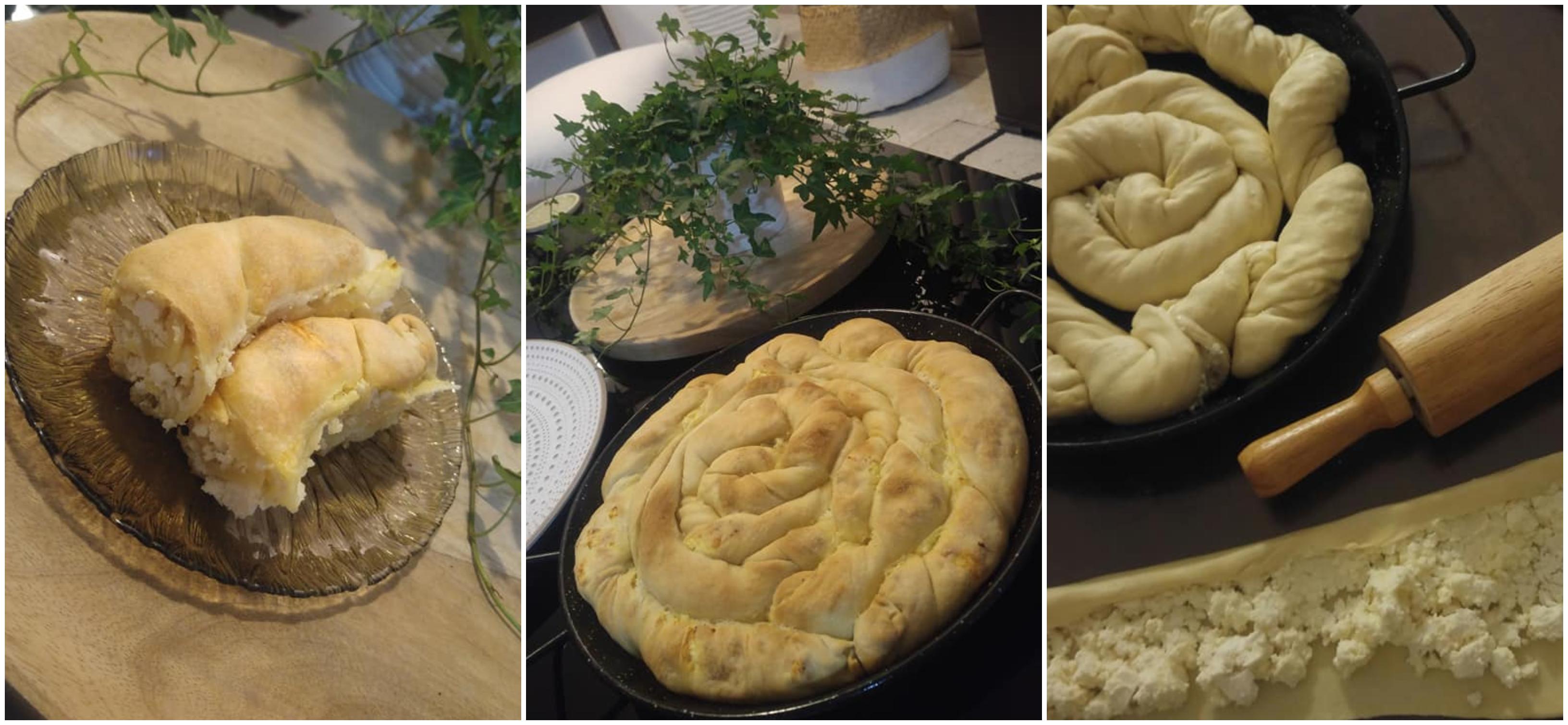 Συνταγή για χωριάτικη στριφτή τυρόπιτα με χειροποίητο φύλλο με αναρή και φέτα!