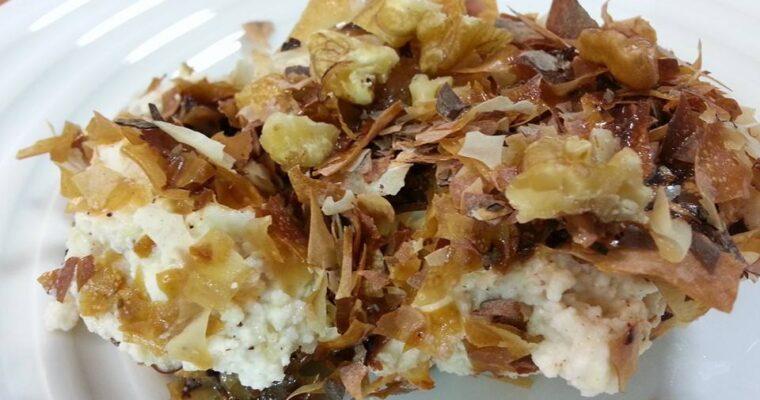Συνταγή για αναρόκρεμα με φύλλα μπακλαβά, κανέλα, ανθόνερο, μέλι και καρύδια!