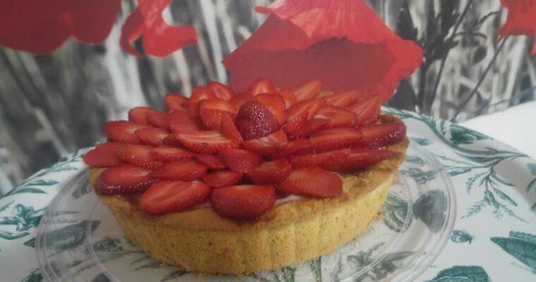 Συνταγή για τάρτα με κρέμα και φράουλες 🍓🍓🍓