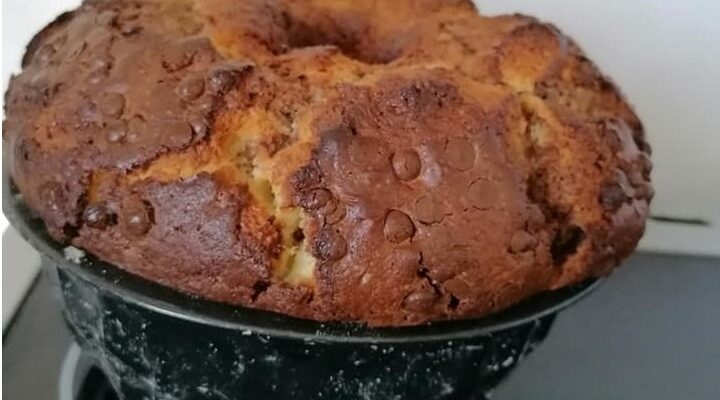 Συνταγή για Κέικ γεωγραφίας με γιαούρτι! Το αφράτο, δίχρωμο κέικ με σοκολάτα και βανίλια.